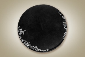 Painted shaman drum, black